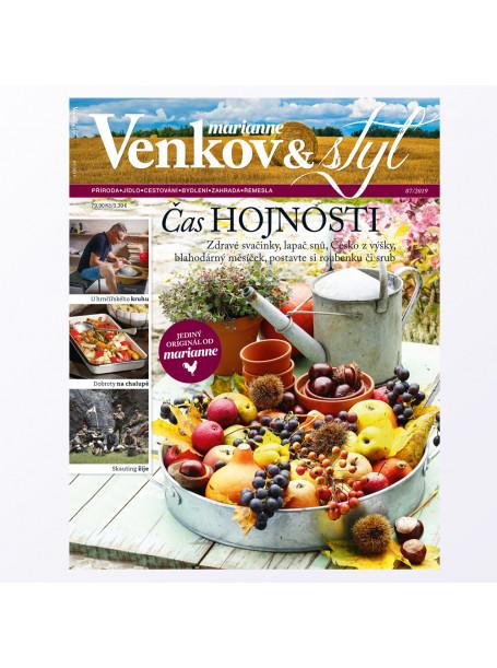 Aktuální vydání Venkov & styl - Marianne 7/2019 (poštovné zdarma)