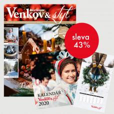 Roční tištěné předplatné Venkov&Styl - Marianne se slevou 43% + Kalendář 2020