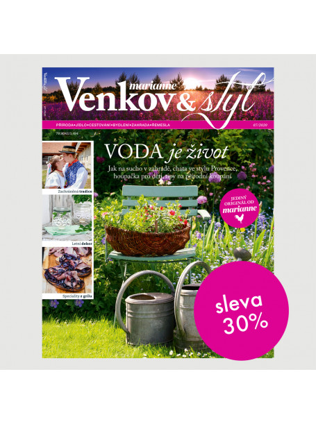 Půlroční tištěné předplatné Venkov&Styl - Marianne se slevou 30 %