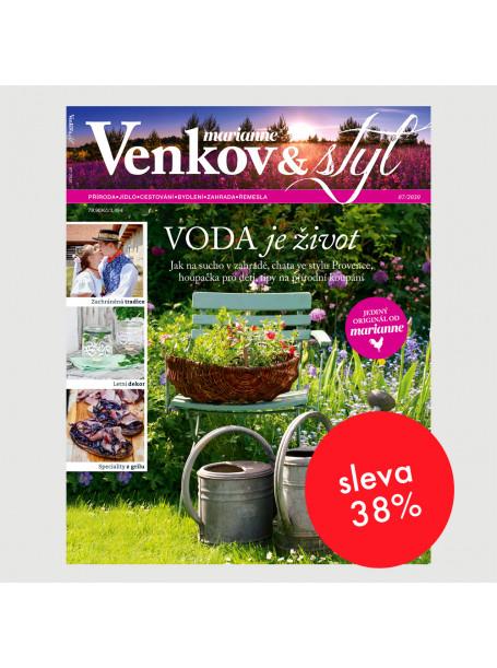 Roční tištěné předplatné Venkov&Styl - Marianne se slevou 38 %