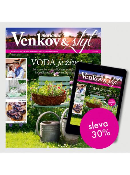 Roční kombinované předplatné Marianne Venkov&Styl (PAPÍR + DIGI)  se slevou 30 %