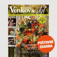Aktuální vydání Venkov&styl - Marianne 10/2020 POŠTOVNÉ ZDARMA (pouze pro ČR)