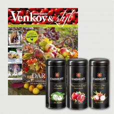 Roční předplatné  Venkov&Styl - Marianne + sada čajů Eminent